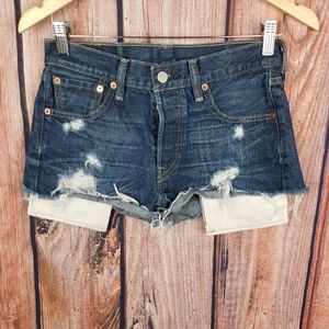 Levi Strauss & Co. 501 Shortie Shorts Distressed J